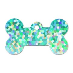 Mosaic Sparkley 1 Dog Tag Bone (two Sided) by MedusArt