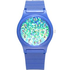 Mosaic Sparkley 1 Plastic Sport Watch (small) by MedusArt
