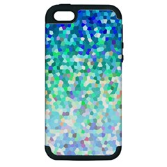 Mosaic Sparkley 1 Apple Iphone 5 Hardshell Case (pc+silicone) by MedusArt