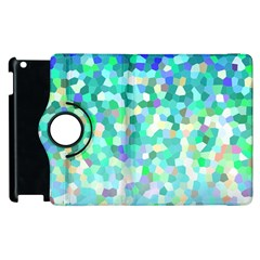 Mosaic Sparkley 1 Apple Ipad 3/4 Flip 360 Case by MedusArt