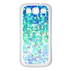 Mosaic Sparkley 1 Samsung Galaxy S3 Back Case (white) by MedusArt