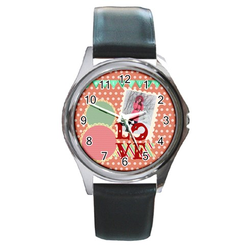 Love By Ki Ki   Round Metal Watch   0ipl2zpith0i   Www Artscow Com Front