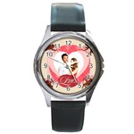 love - Round Metal Watch