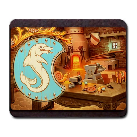 King s Forge   Dolphin By Grahamleatherwood   Large Mousepad   Xhohffr9fxg4   Www Artscow Com Front