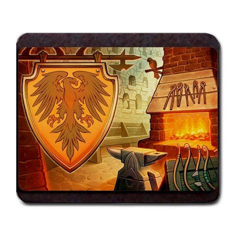 King s Forge   Falcon By Grahamleatherwood   Large Mousepad   Ssosz9s7sovd   Www Artscow Com Front