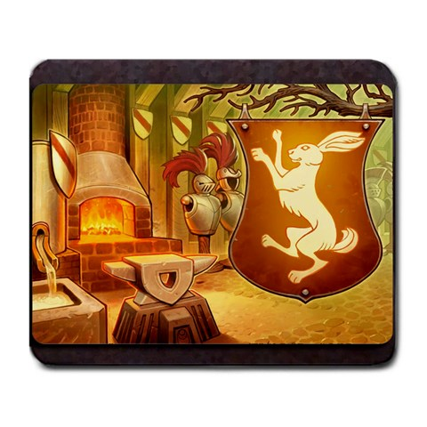 King s Forge   Rabbits By Grahamleatherwood   Large Mousepad   U6ps4fllqtyf   Www Artscow Com Front