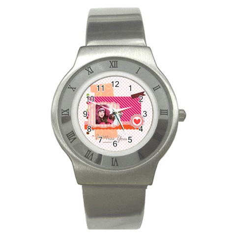 Love By Ki Ki   Stainless Steel Watch   Qkmstpg9p526   Www Artscow Com Front