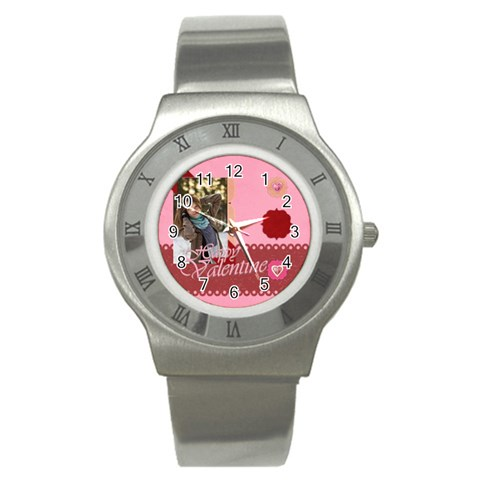 Love By Ki Ki   Stainless Steel Watch   N2lkr3pwnydl   Www Artscow Com Front