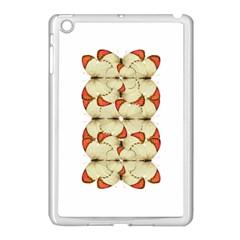 Butterfly Art White&orage Apple Ipad Mini Case (white) by BrilliantArtDesigns