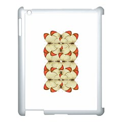 Butterfly Art White&orage Apple Ipad 3/4 Case (white) by BrilliantArtDesigns