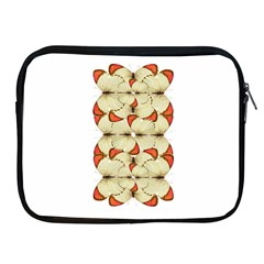 Butterfly Art White&orage Apple Ipad Zippered Sleeve by BrilliantArtDesigns