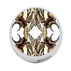 Butterfly Art Ivory&brown 4 Port Usb Hub (two Sides) by BrilliantArtDesigns