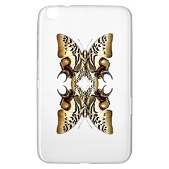 Butterfly Art Ivory&brown Samsung Galaxy Tab 3 (8 ) T3100 Hardshell Case  by BrilliantArtDesigns