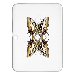 Butterfly Art Ivory&brown Samsung Galaxy Tab 3 (10 1 ) P5200 Hardshell Case  by BrilliantArtDesigns