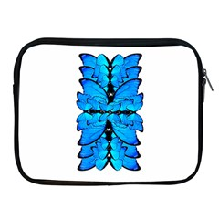 Butterfly Art Blue&cyan Apple Ipad Zippered Sleeve by BrilliantArtDesigns