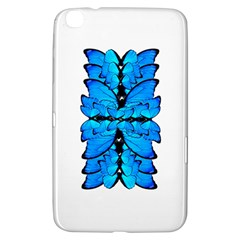 Butterfly Art Blue&cyan Samsung Galaxy Tab 3 (8 ) T3100 Hardshell Case  by BrilliantArtDesigns