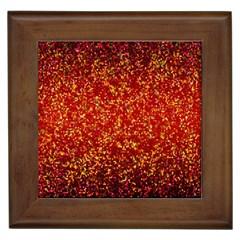 Glitter 3 Framed Ceramic Tile by MedusArt