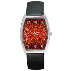Glitter 3 Tonneau Leather Watch by MedusArt