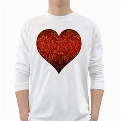 Glitter 3 Men s Long Sleeve T Shirt (white) by MedusArt