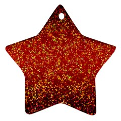 Glitter 3 Star Ornament (two Sides) by MedusArt