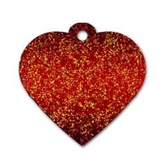 Glitter 3 Dog Tag Heart (one Sided)  by MedusArt