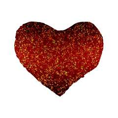 Glitter 3 16  Premium Heart Shape Cushion  by MedusArt
