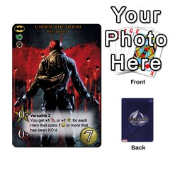 Legendary Batfamily2 By Mark   Playing Cards 54 Designs   U64yxtqn2fkz   Www Artscow Com Front - Heart6