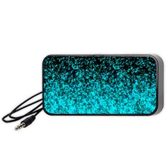 Glitter Dust 1 Portable Speaker (Black) by MedusArt