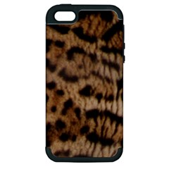 Ocelot Coat Apple Iphone 5 Hardshell Case (pc+silicone) by BrilliantArtDesigns