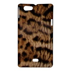 Ocelot Coat Sony Xperia Miro Hardshell Case  by BrilliantArtDesigns