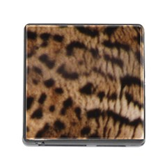 Ocelot Coat Memory Card Reader With Storage (square)