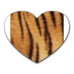 Tiger Coat2 Mouse Pad (heart) by BrilliantArtDesigns