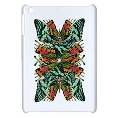 Butterfly Art Green & Orange Apple Ipad Mini Hardshell Case by BrilliantArtDesigns