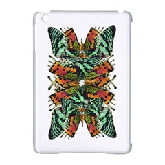 Butterfly Art Green & Orange Apple Ipad Mini Hardshell Case (compatible With Smart Cover) by BrilliantArtDesigns
