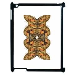 Butterfly Art Tan & Orange Apple Ipad 2 Case (black) by BrilliantArtDesigns