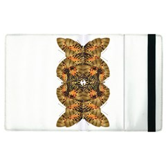 Butterfly Art Tan & Orange Apple Ipad 3/4 Flip Case by BrilliantArtDesigns