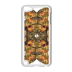 Butterfly Art Tan & Orange Apple Ipod Touch 5 Case (white) by BrilliantArtDesigns