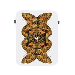 Butterfly Art Tan & Orange Apple Ipad Protective Sleeve by BrilliantArtDesigns