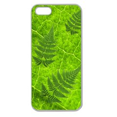Leaf & Leaves Apple Seamless Iphone 5 Case (clear) by BrilliantArtDesigns