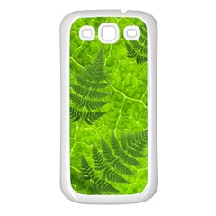 Leaf & Leaves Samsung Galaxy S3 Back Case (white) by BrilliantArtDesigns