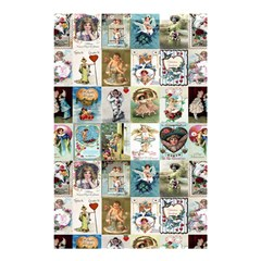 Vintage Victorian Postcards Shower Curtain 48  X 72  (small)