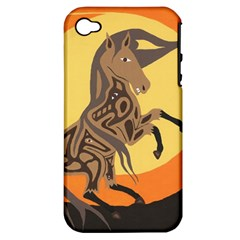 Embracing The Moon Apple Iphone 4/4s Hardshell Case (pc+silicone) by twoaboriginalart