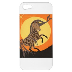 Embracing The Moon Copy Apple Iphone 5 Hardshell Case by twoaboriginalart