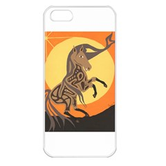 Embracing The Moon Copy Apple Iphone 5 Seamless Case (white) by twoaboriginalart