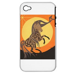 Embracing The Moon Copy Apple Iphone 4/4s Hardshell Case (pc+silicone) by twoaboriginalart