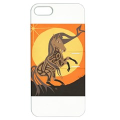 Embracing The Moon Copy Apple Iphone 5 Hardshell Case With Stand by twoaboriginalart