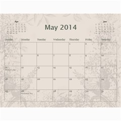 My Calendar 2014 By Inna   Wall Calendar 11  X 8 5  (12 Months)   9h1or3evyb5p   Www Artscow Com May 2014
