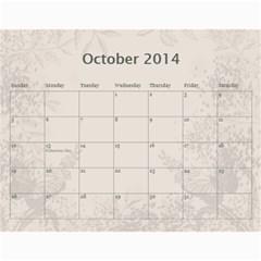 My Calendar 2014 By Inna   Wall Calendar 11  X 8 5  (12 Months)   9h1or3evyb5p   Www Artscow Com Oct 2014
