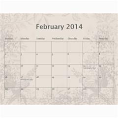 My Calendar 2014 By Inna   Wall Calendar 11  X 8 5  (12 Months)   9h1or3evyb5p   Www Artscow Com Feb 2014