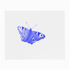 Decorative Blue Butterfly Glasses Cloth (small, Two Sided) by Colorfulart23